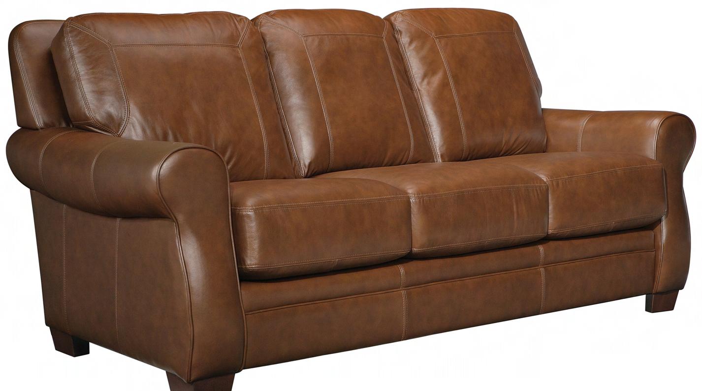 Leather Craft Orangeville Stationary Sofa Bothwell Furniture